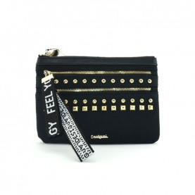 Desigual 19WAYA01 black multi zip wallet