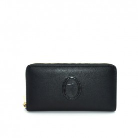 Trussardi jeans 75B00246 Lisbona black zip around wallet