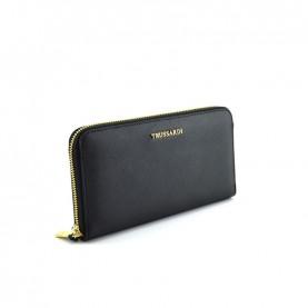 Trussardi jeans 75W00248 Mosca black zip around wallet
