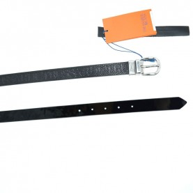 Trussardi jeans 75L00107 reversible black leather belt
