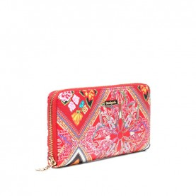 Desigual 19SAYP58 red printed zip around wallet