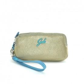 Gabs Gfolderbig ruga platinum leather wallet
