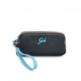 Gabs Gfolderbig ruga black leather wallet