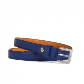 Trussardi jeans 75L00082 blue leather belt