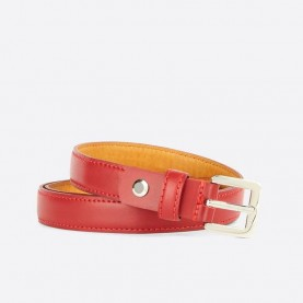 Trussardi jeans 75L00082 red leather belt