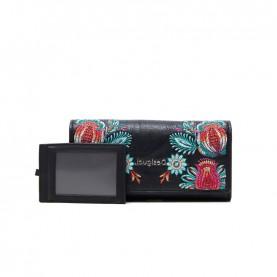 Desigual 21SAYP06 black flower long wallet