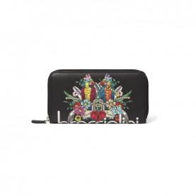 Braccialini B14806 126 Britney black parrot zip around wallet