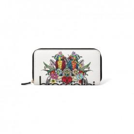 Braccialini B14806 126 Britney white parrot zip around wallet