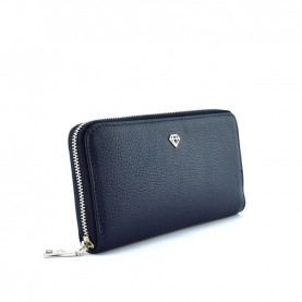 Caleidos 04W-01BL blue leather zip around long wallet