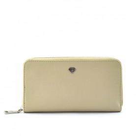 Caleidos 04W-01BG beige leather zip around long wallet