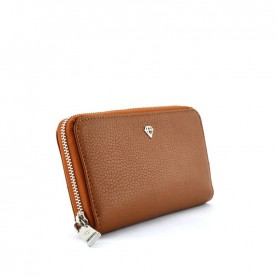 Caleidos 04W-01CU cuoio leather zip around long wallet