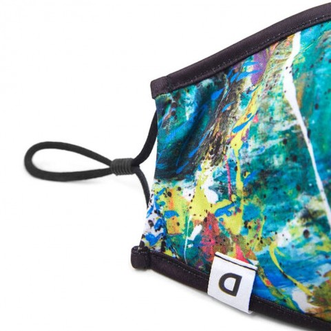 Desigual  20WAOA03 reversible watercolor mask and pouch