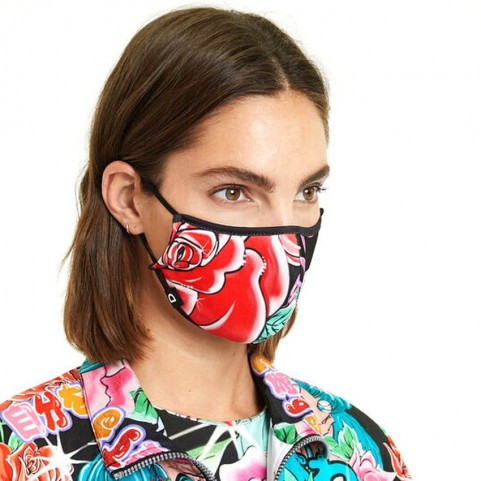 Desigual  20WAOA06 reversible maxi flower mask and pouch