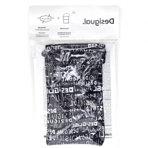 Desigual  20WAOA08 reversible lettering mask and pouch
