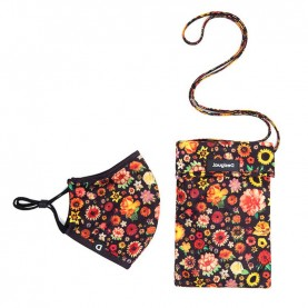 Desigual  20WAOA05 revesrsible floral mask and pouch