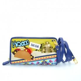 Braccialini B12010 Cartoline Mexico zip around wallet