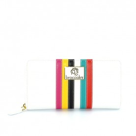 Braccialini B12332_126 Sylvie white leather zip around wallet