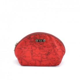 Alviero Martini CBE169 ruby red three beauty bag