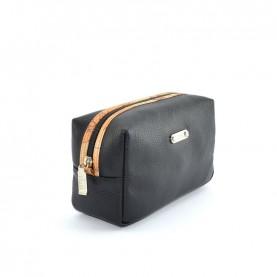 Alviero Martini CBE135 black leather beauty case