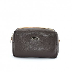Alviero Martini CBE135 dark brown leather beauty case