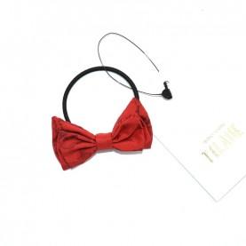 Alviero Martini CBE188 ruby red hair tie with bow