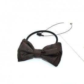 Alviero Martini CBE188 coffe hair tie with bow