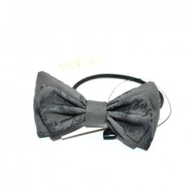 Alviero Martini CBE188 asphalt grey hair tie with bow