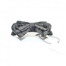 Alviero Martini CBE189 asphalt grey hair clip with bow