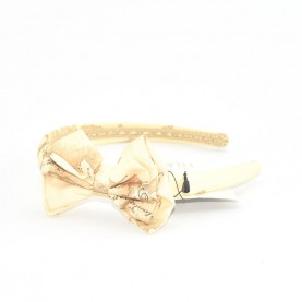 Alviero Martini CBE187 butter hairband with bow