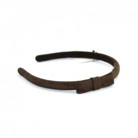 Alviero Martini CBE028 dark brown hairband with bow