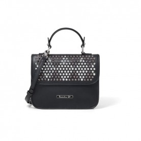 Braccialini B13294 Tua Strap black studs handle bag