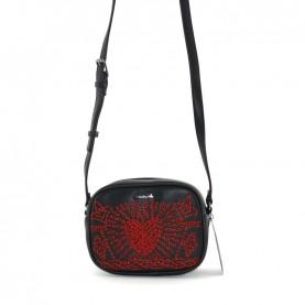 Desigual 19WAXPB2 2000 black and red shoulder bag