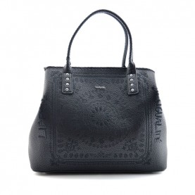 Desigual 19WAXP80 2000 black shopping bag
