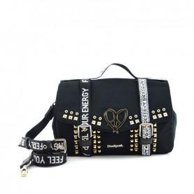 Desigual 19WAXA49 2000 black studs bag