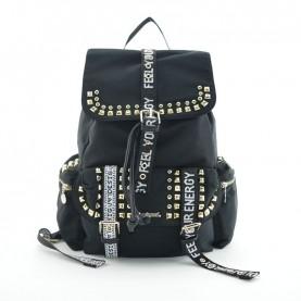 Desigual 19WAKA22 2000 black studs backpack