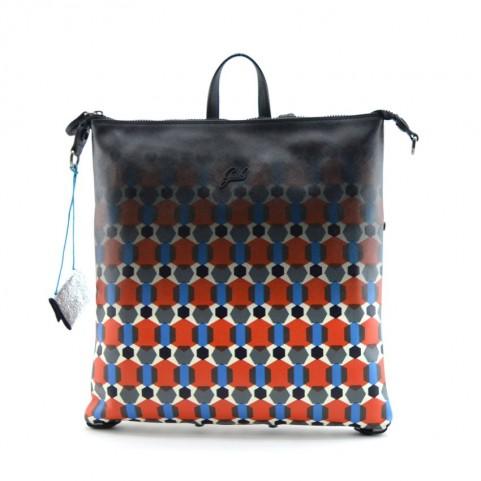 Gabs Lola M backpack saffiano print 10 cervo black