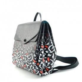 Gabs Carola M backpack saffiano print 18 cervo black