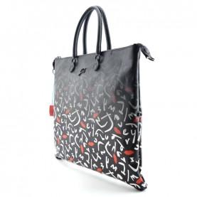 Gabs G3 L bag saffiano print 18 cervo black