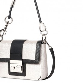 Trussardi jeans 75B00563 New With Love platinum black bag