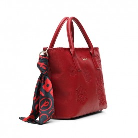 Desigual 20WAXPC4 bordeaux handle bag