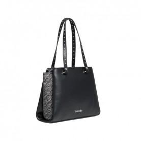 Braccialini B14363 Asia logo black shopping bag