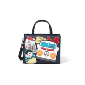 Braccialini B14461 Stickers handle mini bag