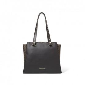 Braccialini B14363 Asia logo brown shopping bag