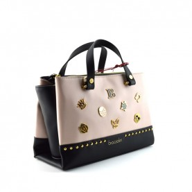 Braccialini B14361 Asia lucky pink and black bag