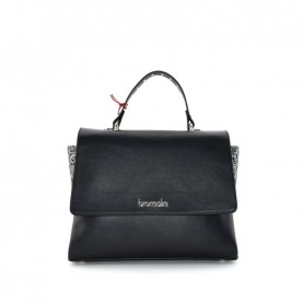 Braccialini B14362 Asia logo black handle bag