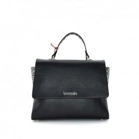 Braccialini B14362 Asia logo black handle bag