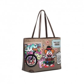 Braccialini B14552 Cartoline shopping bag Londra