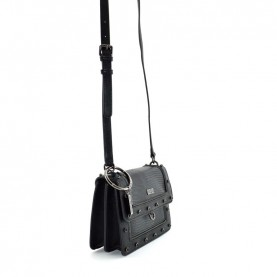 Cult 1139 black small shoulder bag with zip