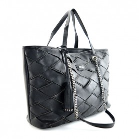 Cult 9368 black shopping bag with zip