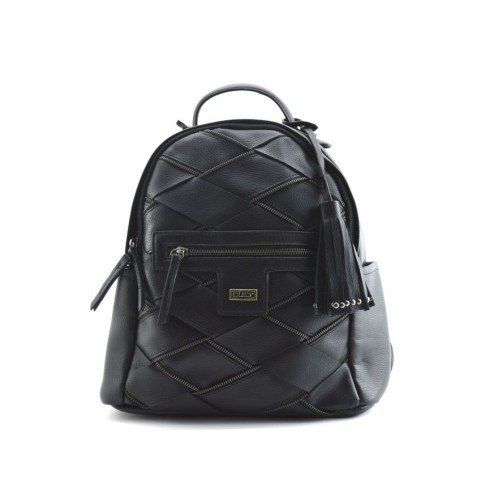 Cult 9370 black backpack with zip